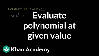 Evaluating a polynomial at a given value