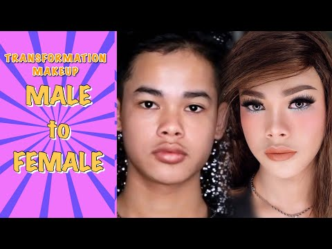 Male To Female Makeup Transformation