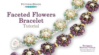 Faceted Flowers Bracelet- DIY Jewelry Making Tutorial At PotomacBeads