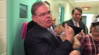 Menendez Visits NJ Animal Shelter