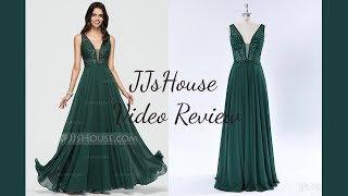 Flowy Floor Length Chiffon Prom Dress - JJsHouse