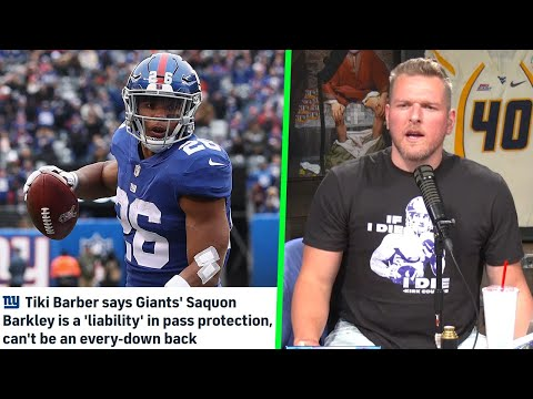 Pat McAfee Reacts To Tiki Barber Going After Saquon, Calling Him A Liability