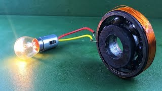 Electric New Technology Free Energy Generator Homemade Self Running With Flywheel Using DC Motor