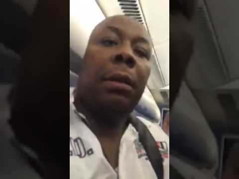 Video Nigerian held Dutch KLM flight