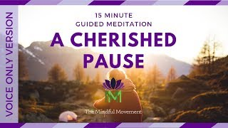 15 Minute Guided Mindfulness Meditation:  A Cherished Pause--Voice Only Version