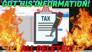 GETTING A SCAMMERS TAX INFO [Files Deleted]