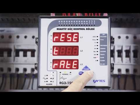 RG3-15 CLS Power Factor Controller Compensation Alarm Resetting