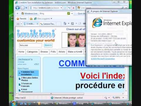 comment trouver version internet explorer