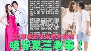 呂慧儀黃文迪宣布離婚:唔關第三者事!