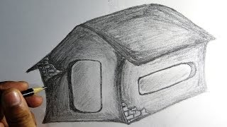 How to draw house pencil drawing| Easy drawing with narration