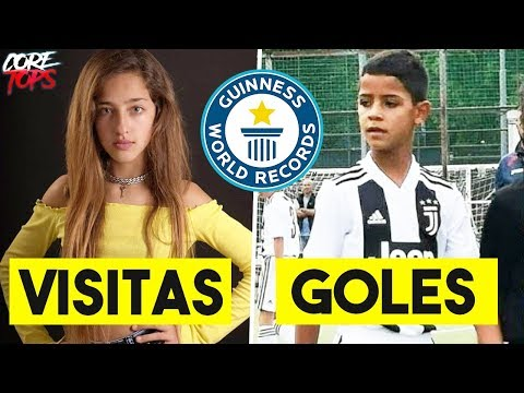 5 NIÑOS que han batido RECORDS GUINESS | Ariann Music, CR7 Jr