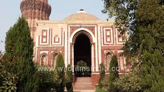 Alai Darwaza at Qutub Minar Complex, Delhi - Medieval gateway made of red sandstone