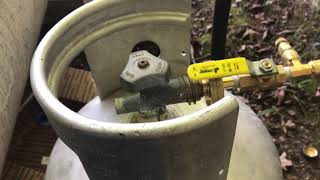 How to fill your own propane tank