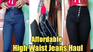 Affordable High Waist Jeans Haul। Under 600-800 High Waist Jeans Review। Puja Dazz