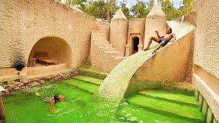 My 95 Days Building A Million Dollar Underground Water Slide House