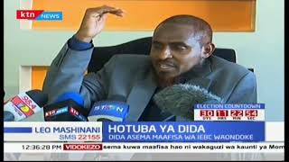 Abduba Dida swears by the Quran that he has never taken or given a bribe