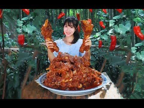 大胃王,全村第一吃貨消滅30斤鹵大骨