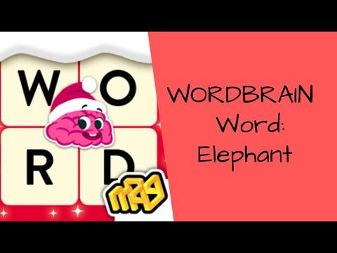 , title : 'WordBrain Game Level: Elephant