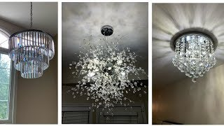 Modern Glam Crystal Chandeliers || Home Improvement Series - #2