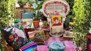 Bohemian Ecltectic Hippie Garden