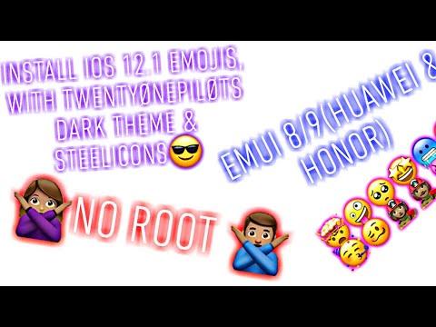 How to get iOS 12 1 emojis on Huawei [No root!] - смотреть
