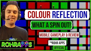 COLOUR REFLECTION- What The? This game SPUN ME OUT! mobile gameplay and review ™ROHR APPS OFFICIAL