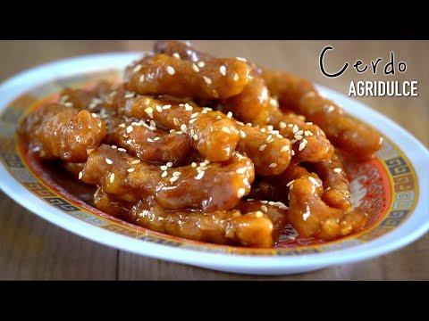 """Cerdo agridulce auténtica comida china """"Tang Cu Li Ji"""""""