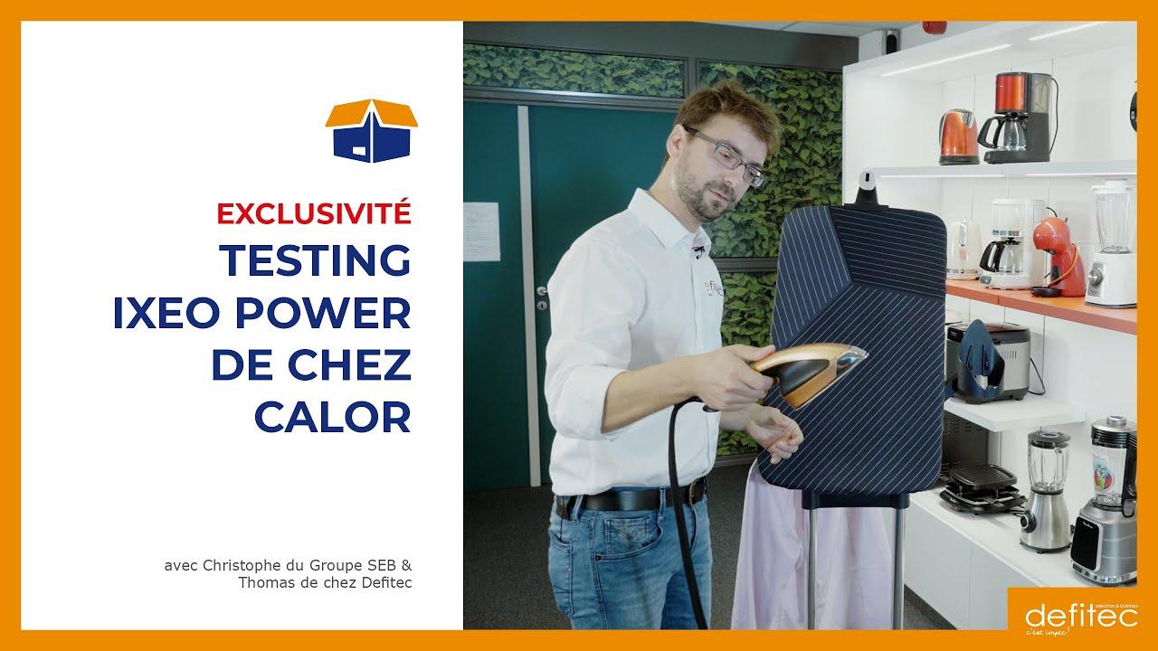 Découvrez le défroisseur et fer vapeur vertical IXEO Power Calor QT2020C0 #Unboxing