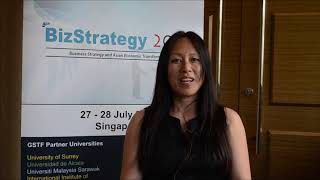 Dr. Xiaohong Li at BizStrategy Conference 2015 by GSTF