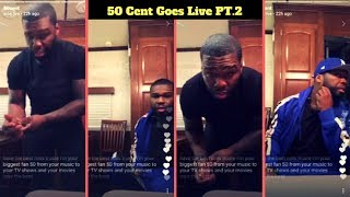 50 Cent Goes Live On IG Rides Through Brooklyn With Tommy Talks BMF Series and More (Pt.2)