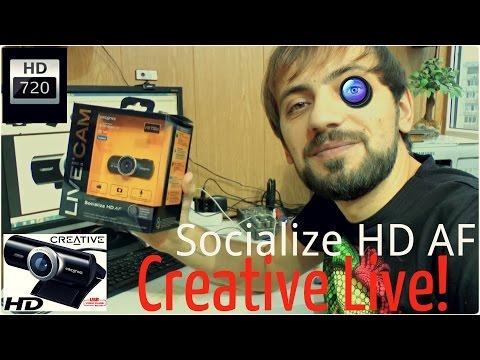 Обзор веб камеры тест Creative Live! Cam Socialize HD AF 720P 10MP Webcam Мысля от Эдгара HD