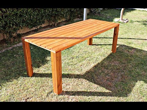 Tavolo da Giardino in Legno Fai Da Te - costruire un tavolo