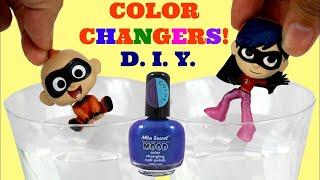 D.I.Y. Color Changers! Incredibles 2 Baby Jack Jack & Violet feat. Auntie Edna's Nail Polish