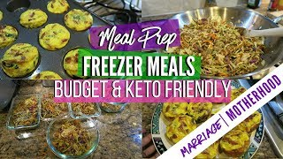 Meal Prep Freezer Meals | Meal Plan | Cook with me | Sunday Setup | Keto Diet