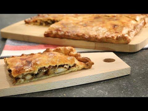Empanada de setas y bacon - Cocinatis