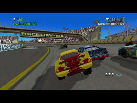 Sneak JR - Cars 1 The Videogame 360 -No Com- Lightning Mcqueen S4 VS Pro  Piston Cup Hard Race