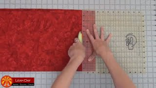 Prepare And Cut Fabric For A Log Cabin Quilt - Learn To Quilt With Leah Day