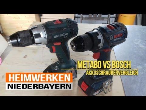 Akkuschrauber Vergleich 18V Metabo vs 18V Bosch