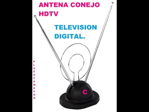 ANTENA CONEJO HDTV,MODIFICADA PARA VER TODOS LOS CANALES DIGITALES.