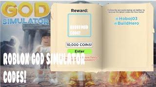 roblox god simulator codes update 1 - TH-Clip