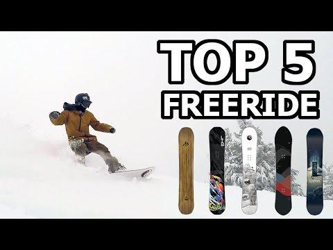 Top 5 Freeride Snowboards - 2018