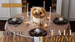 DIY Fall Wedding Decoration Ideas | Rustic Wedding Decor | Dollar Tree Fall Wedding Decoration Ideas