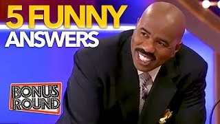 5 FUNNIEST ANSWERS On Family Feud USA! Bonus Round