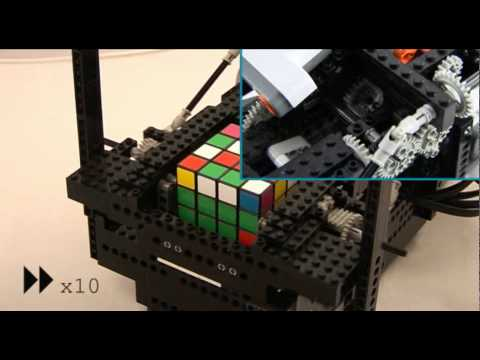 ARM-Powered Lego Robot, Solver Of Rubik's Cubes And My Heart