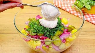 Der leckerste deutsche Salat! Ich werde nie müde, diesen Salat zu essen! Leckeres Abendessen Rezept