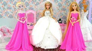 Boneka Barbie Hari Pernikahan Pagi - Barbie Gaun Pengantin