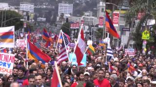 100th Year Armenian Genocide March L.A - 2015 Documentary