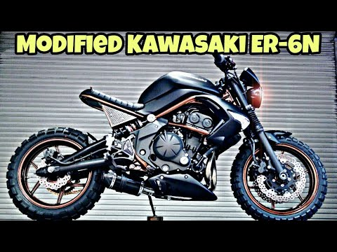 Modified Kawasaki ER 6N Into Street Scrambler By KEVIL'S SPEED