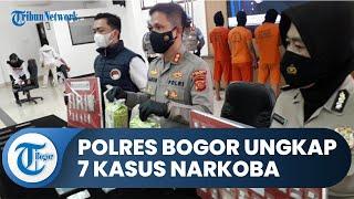 Polres Bogor Ungkap 7 Kasus Narkoba, Sebanyak 9 Orang Jadi Tersangka, 5 Kg Sabu Jadi Barang Bukti