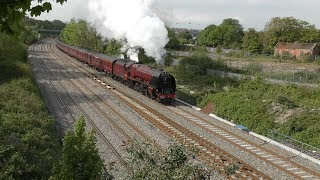 46233 Duchess of Sutherland roars up Filton and Llanvihangel Bank on Day 3 of The Great Britain XII